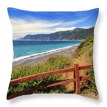 Throw Pillow featuring the photograph Blue Waters Of The Lost Coast by James Eddy