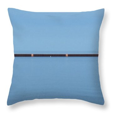 Blue Waters Sailing Throw Pillow by Wendy Shoults