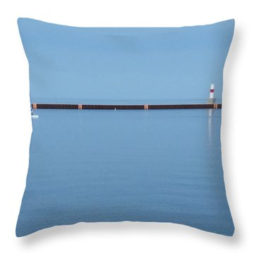 Blue Waters Throw Pillow by Wendy Shoults
