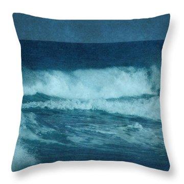 Blue Waves - Jersey Shore Throw Pillow