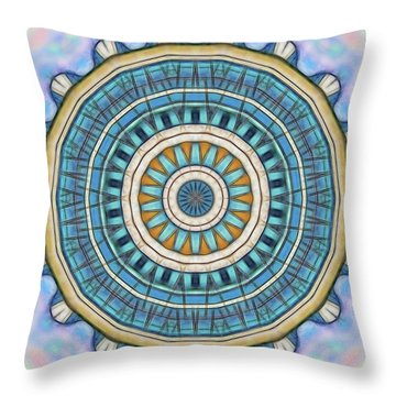 Throw Pillow featuring the digital art Blue Wheeler 1 by Wendy J St Christopher