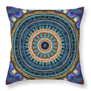 Throw Pillow featuring the digital art Blue Wheeler 2 by Wendy J St Christopher
