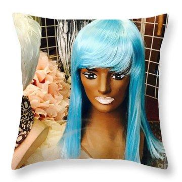 Blue Wilderness Throw Pillow by Trish Hale