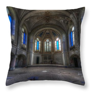 Blue Windows Throw Pillow by Nathan Wright