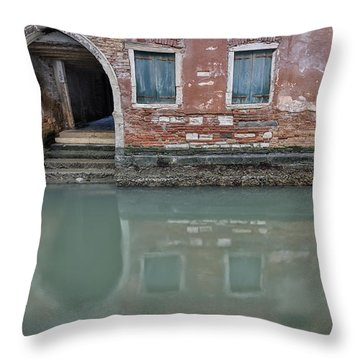 Throw Pillow featuring the photograph Blue Windows by Sharon Jones
