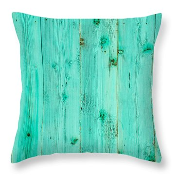 Throw Pillow featuring the photograph Blue Wooden Planks by John Williams