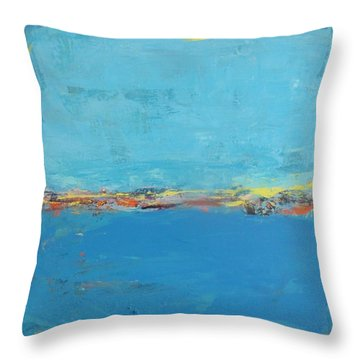 Blue World Throw Pillow