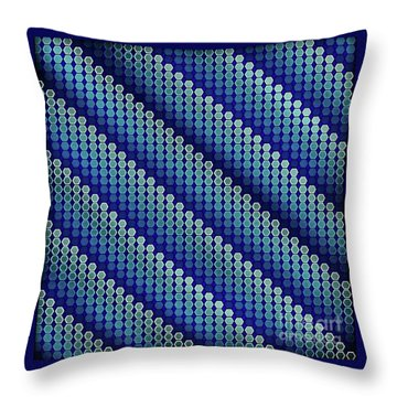 Blue Zag Throw Pillow