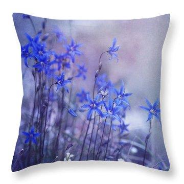 Bluebell Heaven Throw Pillow by Priska Wettstein