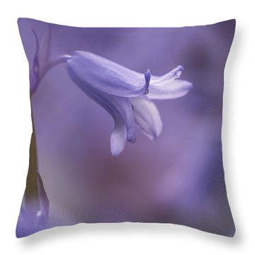 Bluebell Throw Pillow by Inge Riis McDonald
