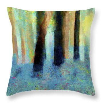 Bluebell Wood By V.kelly Throw Pillow