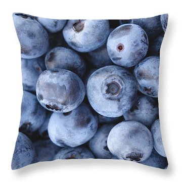 Blueberries Foodie Phone Case Throw Pillow