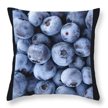 Blueberries Foodie Phone Case Throw Pillow by Edward Fielding