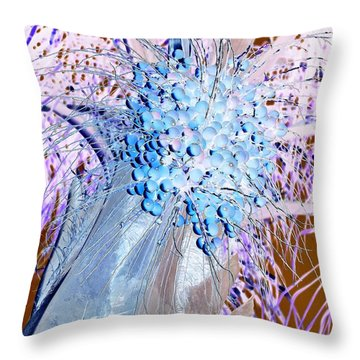 Blueberries Throw Pillow