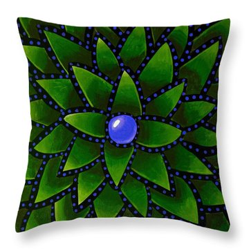 Blueberry Core - Abstract Art Throw Pillow