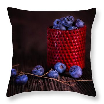 Blueberry Delight Throw Pillow