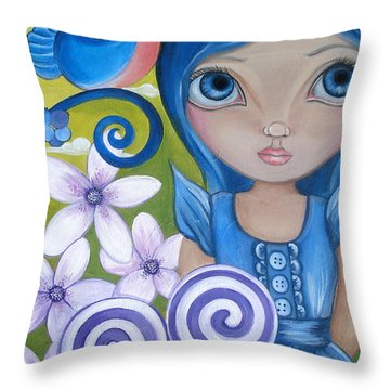 Blueberry Throw Pillow by Jaz Higgins