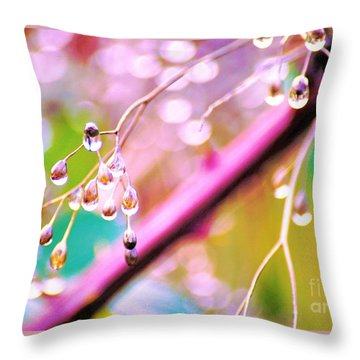 Blueberry Pearls Throw Pillow