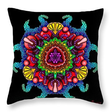Blueberryflower Throw Pillow