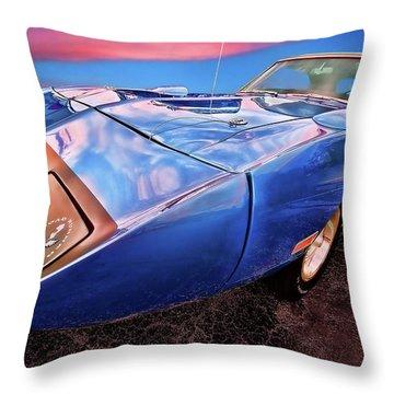 Bluebird - 1970 Plymouth Road Runner Superbird Throw Pillow by Gordon Dean II