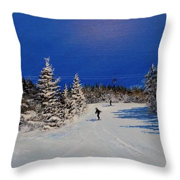 Throw Pillow featuring the painting Bluebird Day by Ken Ahlering