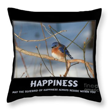 Bluebird Of Happiness Throw Pillow