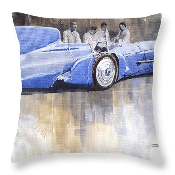 Bluebird World Land Speed Record Car 1931 Throw Pillow by Yuriy  Shevchuk