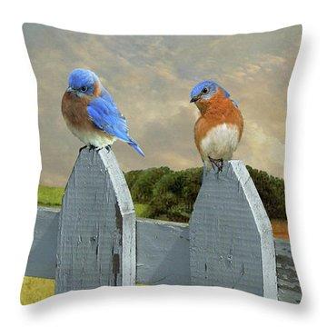 Bluebirds In My Heart Throw Pillow