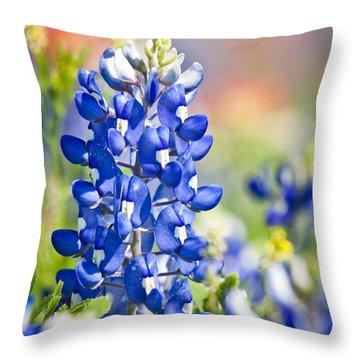 Bluebonnet 1 Throw Pillow