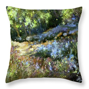 Bluebonnet Dazzle Throw Pillow by Rae Andrews