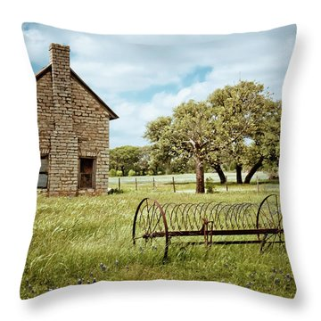 Throw Pillow featuring the photograph Bluebonnet Dreams by Linda Unger