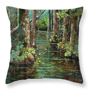 Bluebonnet Swamp Throw Pillow