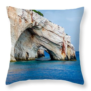 Bluecaves 3 Throw Pillow