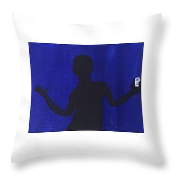 Blued Throw Pillow