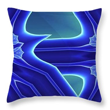 Throw Pillow featuring the digital art Blued by Ron Bissett