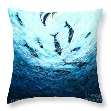 Bluefin Tuna Throw Pillow