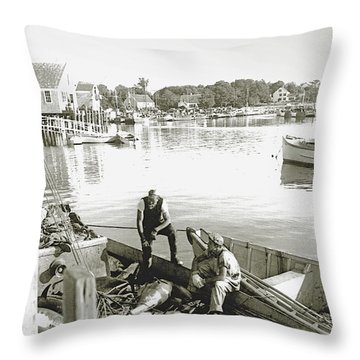 Bluefin Tuna At Barnstable Harbor Throw Pillow