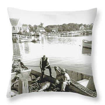Bluefin Tuna At Barnstable Harbor Throw Pillow