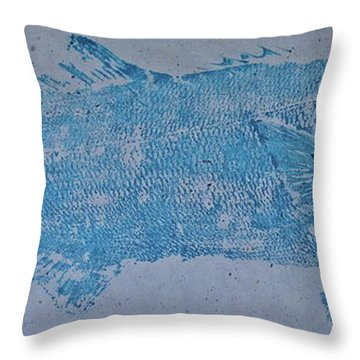 Bluefish - Chopper- Aligator Blue - Throw Pillow