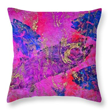 Bluefish Mascara - Maurada - Food Chain Throw Pillow