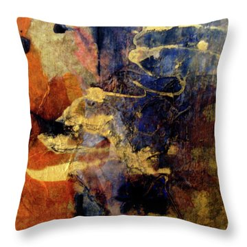 Bluegold 4 Throw Pillow by Gail Butters Cohen
