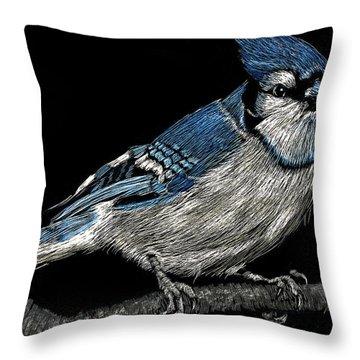 Bluejay Throw Pillow