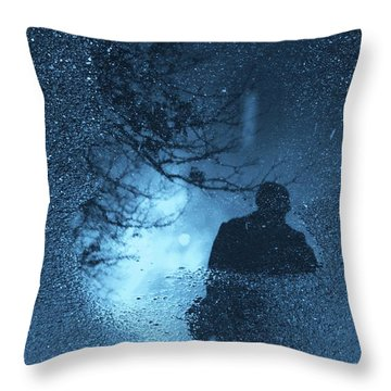Bluemanright Throw Pillow