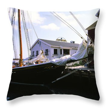 Bluenose II At Historic Properties Halifax Nova Scotia Throw Pillow