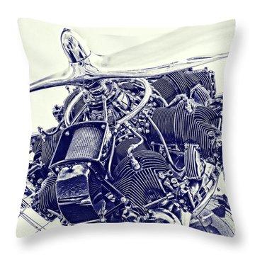 Blueprint Radial Throw Pillow by Steven Richardson