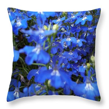 Bluer Than Blue Throw Pillow