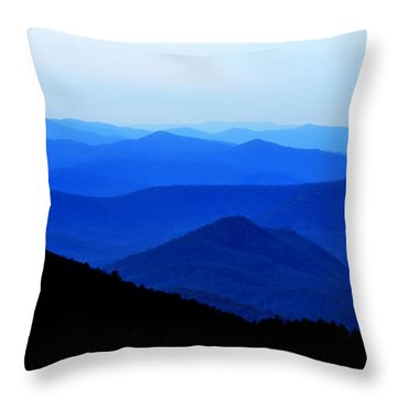 Blueridge Mountains - Parkway View Throw Pillow