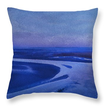 Blues At Mount St Michael Throw Pillow