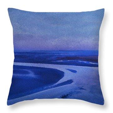 Blues At Mount St Michael Throw Pillow by Karo Evans