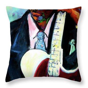 Blues Boy Throw Pillow